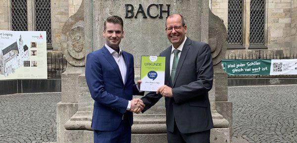 1.000 Euro von der Town & Country Stiftung
