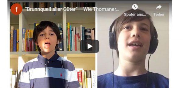 Wie Thomaneranwärter des forum thomanum in Zeiten von homeschooling üben